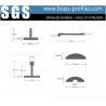China Squared Corner Brass Decorative Profiles Solid Copper Profiles wholesale