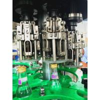 China Carbonated alcohol beverage , 3 in 1 Glass Bottle Filling Machine with 18 heads wholesale