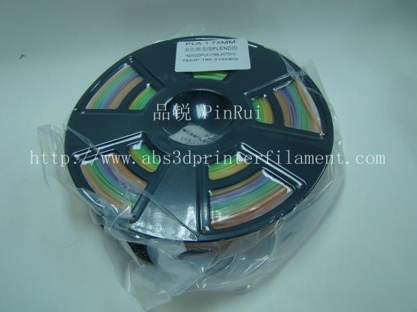 Quality 1.75 / 3.0 Mm Gradient Color 3d Printer Filament Rainbown Color PLA 3d Filament for sale