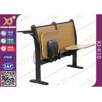 China Plywood School Desk And Chair , College Student Desk With Chair For University Lecture Hall wholesale