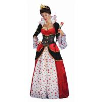 China Alice in Wonderland Costumes Deluxe Gown Queen of Hearts Womens Costume in red with dress waist cincher size S to 3Xl wholesale