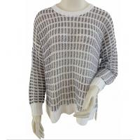 China Gridding jumper with metallic yarns plus size pullover sweaters for women wholesale