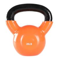 China Vinyl Coated Gym Kettlebell 24 Kgfor Cross Training Swings Body Workout wholesale