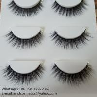 China Wholesale top quality best price hand made 3D silk eyelashes wholesale