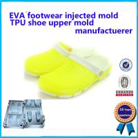 China Transparent and comforatable Injection indoor PVC no air blown lady crystal shoe moulds wholesale