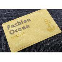 China Hot Sell Custom enamel PU Leather Jeans leather patch Metal Label With Press Logo On Leather wholesale