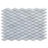 China Rhomboid Shape White Marble Stone Mosaic Tile Diamond Polished Surface wholesale