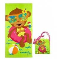 China Pool Cotton Beach Towels Accessories , Kids Bath Wrap With Straps on sale