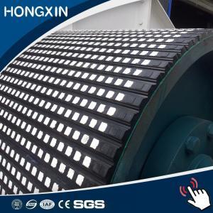 Résistance à l'usure élevée ralentissement en céramique en caoutchouc de poulie de largeur de 500 millimètres