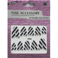 Buy cheap OEM latest nail styles easy remove  Black + White color 2d nail stickers for glass from wholesalers