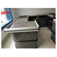 China Electronic Supermarket Conveyor Belt Checkout Counter With Electrical Engine wholesale