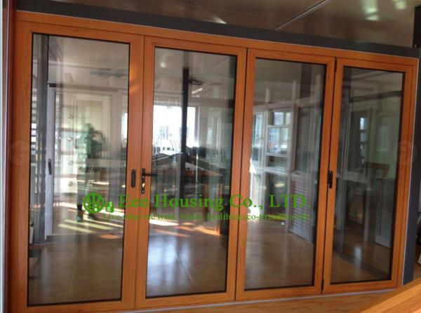 wooden frame fixed glass doors images