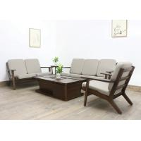 China European Luxury Living Room Furniture Fabric Solid  Wood Sofa Set with Soft Cushion wholesale