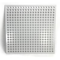 China Aluminum Square Hole Perforated Metal Sheet For Room Division wholesale