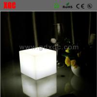 Buy cheap Plastic Made Cube Shape Glowing Living Room Bed Side Table from wholesalers