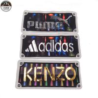 China 3D Brand Logo Custom Leather Patches , Custom Name Patches For Handbag / Hoodie wholesale