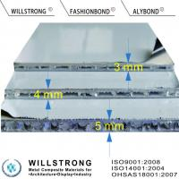 Buy cheap super thin 4mm thick AHP Aluminium Honeycomb Panel Fire Rated A2 from wholesalers