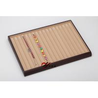 Buy cheap 18 Slots Chain Display Tray MDF Inside Yellow Microfiber Surface from wholesalers