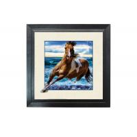 China Running Horse Image 3D Lenticular Printing Service MDP Frame 5D Effect wholesale