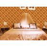 China Процесс пены обоев украшения комнаты кожи Инмитатион ромбовидного узора wholesale