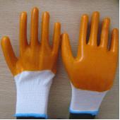 Quality yellow PVC coated working gloves PG1511-5 for sale