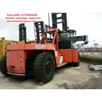 China Flexible Used Container Handler , Reach Stacker Forklift Hydraulic Powered Steering Wheel wholesale