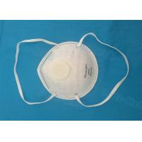 China FFP1 Disposable Earloop Face Mask , Breathing Disposable Respirator Mask With Exhalation Valve wholesale