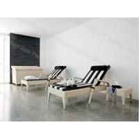 China Outdoor Loungers, Rattan / Wicker Sun Lounger with Side Table and Cushion, Rattan Chaise Lounge (M1B456) wholesale