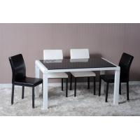 China Modern Dining Room Furniture,White/Black Glossy Dining Table wholesale