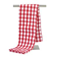 China 80% Polyester and 20% Polyamide Yarn Dyed Kitchen Tea Towel Home Dish Cloth with Checker Pattern wholesale