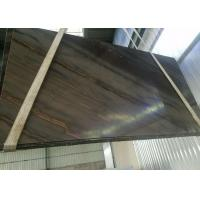 China Quartzite Granite Marble Slabs , Elegant Brown Solid Surface Stone Slab Tiles on sale