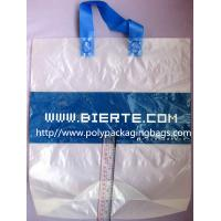 China Biodegradable Personalized Plastic Grocery Bags With Loop Handle wholesale
