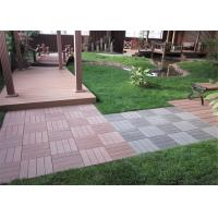 China Anti - Slipping Interlocking Wood plastic Composite Deck Tiles Outdoor 300 * 300mm wholesale