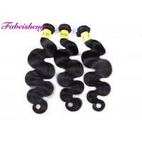 China Natural Black 7A Virgin Peruvian Hair Extensions , Body Wave Hair Extensions wholesale