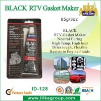 China High Temp Silicone Rubber Sealant , Black RTV Gasket Maker For Vehicle Body wholesale