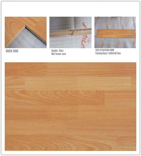 Quality embossed laminate flooring E1 B1 SGS 6017# for sale