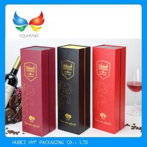 China Coated Paper Single Bottle Wine Box , UV Coating Wine Glass Presentation Box wholesale