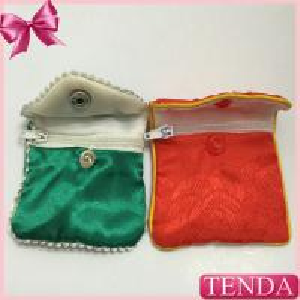 China Women Men Girls Boys Children Zipper Zipped Pattern Satin Silk Silky Cotton Pouch Purse Bags Pack Pocket wholesale