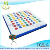 China Hansel inflatable reinforce bouncing mat with blower wholesale