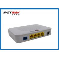 China Wireless 4 Ports FTTX ONT , Plastic Shell EPON ONU Less Power Consumption wholesale