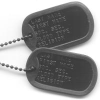 China Army Stainless Steel Dog Tags wholesale
