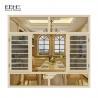 China Champagne Modern Aluminum Casement Windows High Temperature Resistant wholesale