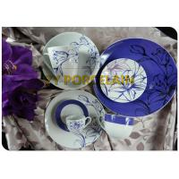 High temperature porcelain 20/30pcs coupe dinnerware set  on glaze with customer logo