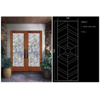 China Sliding Glass DoorHollow Stained Glass Panels Air / Argon Insulating on sale