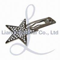 China Hair Clip, Available in Different Platings wholesale