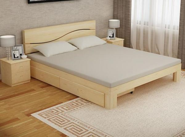 Quality Bedroom Modern Home Furniture Sets Wood Grain With Bottom Drawers for sale