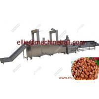 China Automatic Fried Food Production Line|Continuous Chin Chin Plantain Potato Chips Peanut Groundnut Frying Machine wholesale