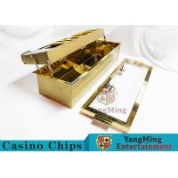 Buy cheap Double-Layer Metal Chip Tray / Poker Chip Holder 680 * 210mm from wholesalers
