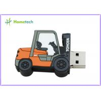 China Forklift Style 64g Customized Usb Flash Drive / Pen Drive Usb 2.0 Support Windows ME / XP wholesale