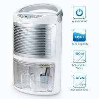 China Retractable Handle Portable Electric Dehumidifier 1000ml Water Tank on sale